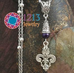 """Artist Created """"Fleur De Lis"""" Necklace"""